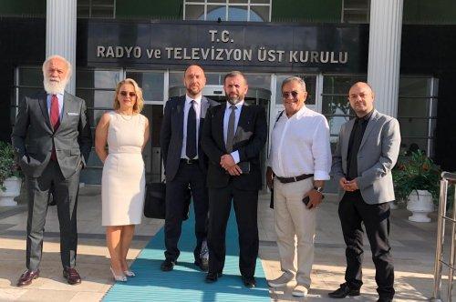 URYAD Yönetimi, RTÜK Başkanı Sayın Ebubekir Şahin' e nezaket ziyaretinde...