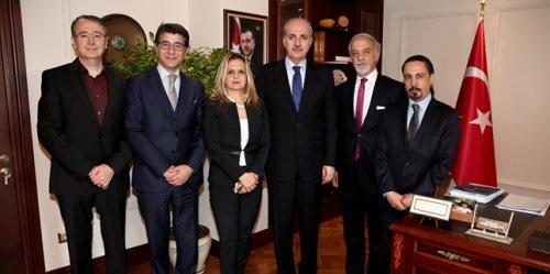 URYAD Yönetimi, Başbakan Yardımcısı Kurtulmuş'u ziyaret etti